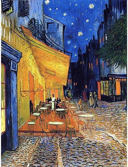 Wee Blue Coo Vincent Van Gogh Cafe Terrace Place du Forum Arles 1888 Wall  Art Print Mur Décor 30 x 41 cm: Amazon.fr: Cuisine & Maison