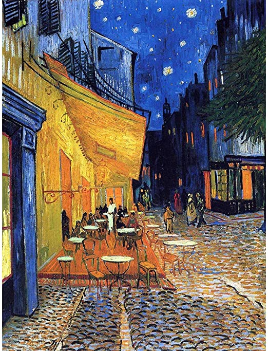The Cafe Terrace at Night by Van Gogh 8x10 Print Stars Sky Place du Forum  37