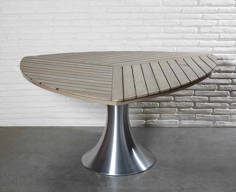 Gartentisch Triangel Tisch Esstisch Alu 160 X 160 X 73 Cm Polywood