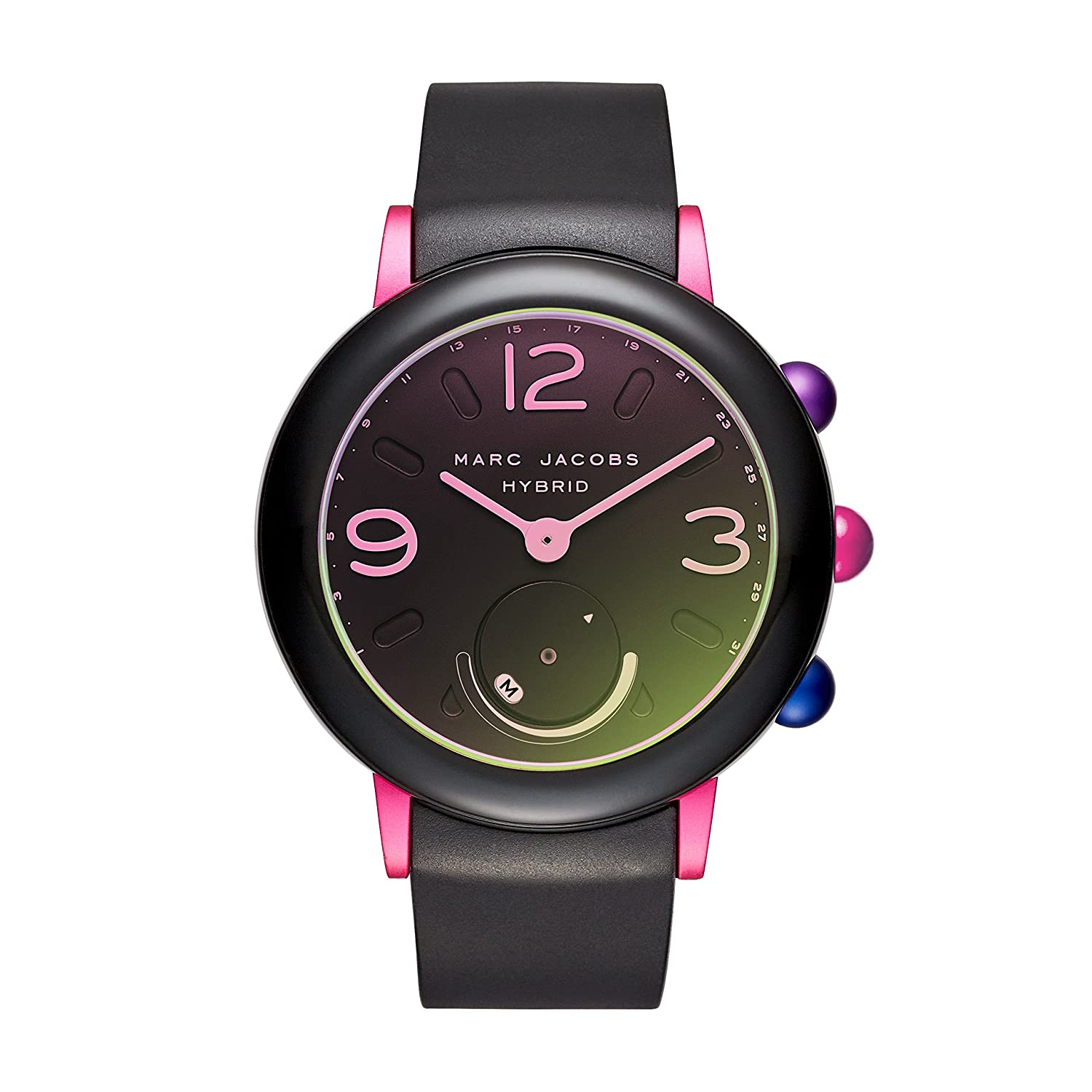Marc Jacobs Womens Riley Hybrid Smartwatch on Sport Silicone Strap