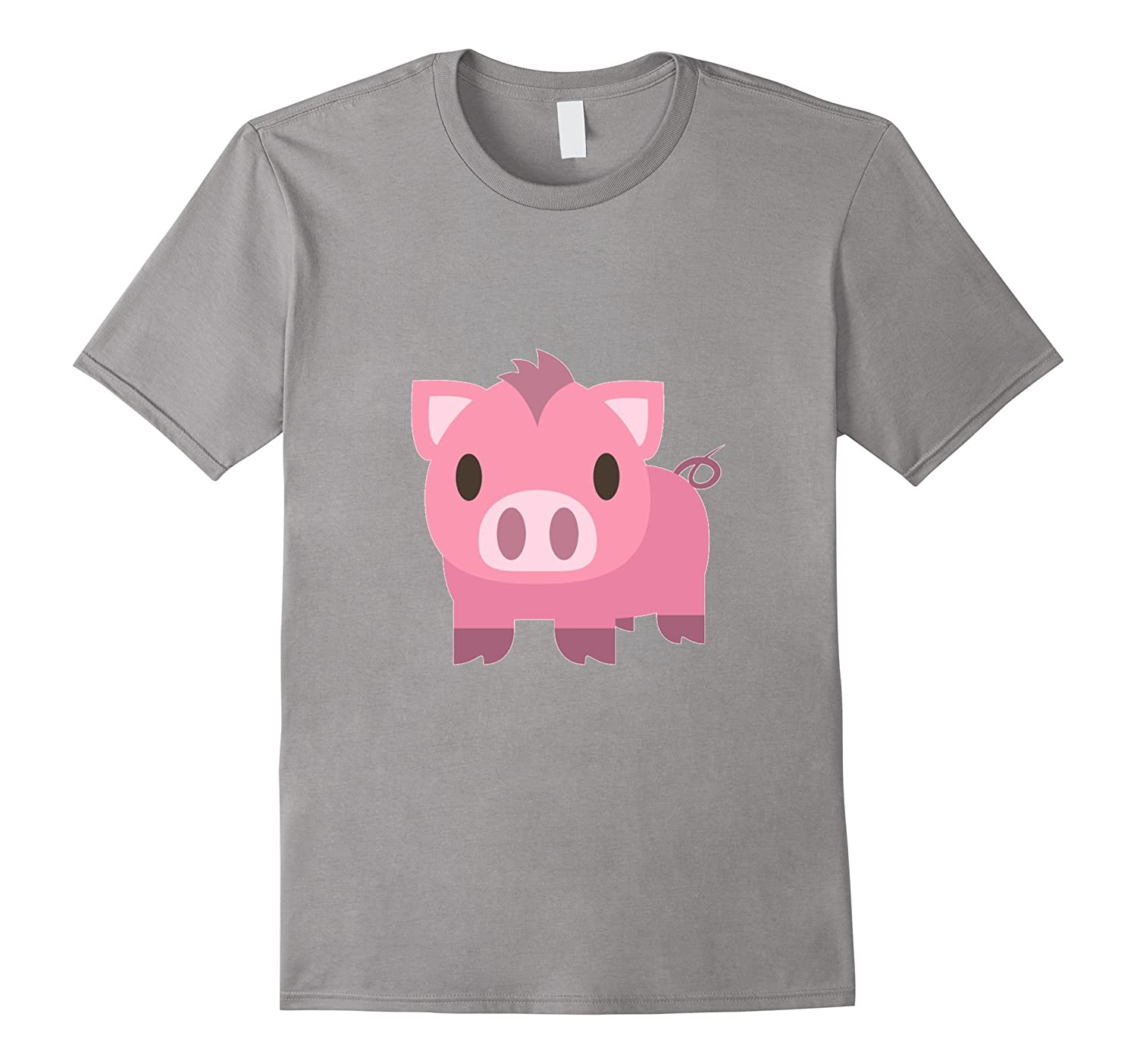 Pig Emoji T-Shirt Piglet Pink Oink Zoo Animal Mud Tail-Art