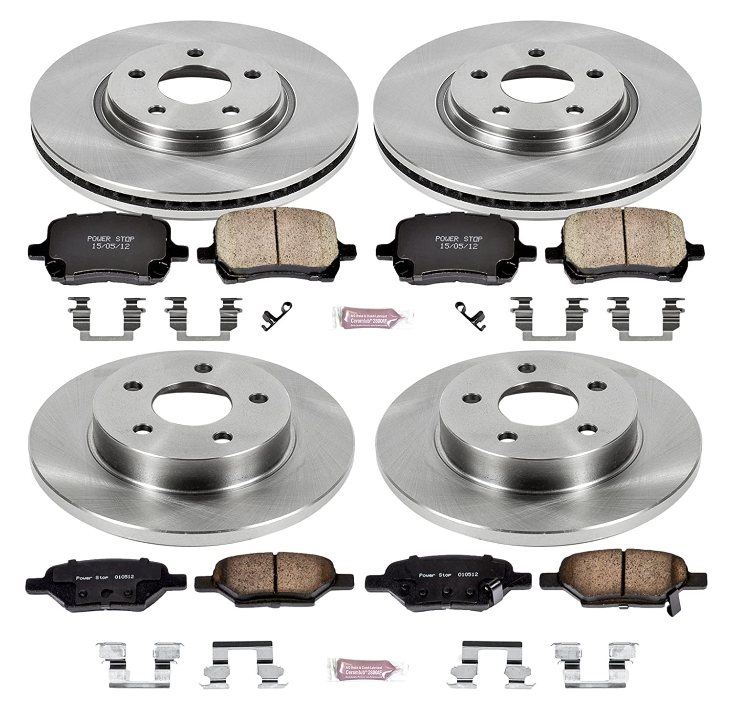 Autospecialty KOE2731 1-Click OE Replacement Brake Kit