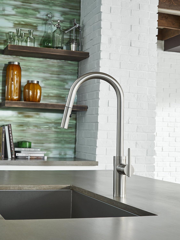 Danze D454058SS Parma Café Single Handle Pull-Down Kitchen Faucet ...