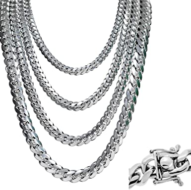 925 Sterling silver miami link chain bracelet thick hip hop Cuban bracelet