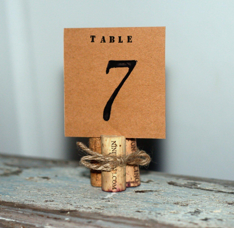 Rustic Wine Corks Wedding Table Number, Rustic Wedding Table Numbers, Chic Wedding Table Decor