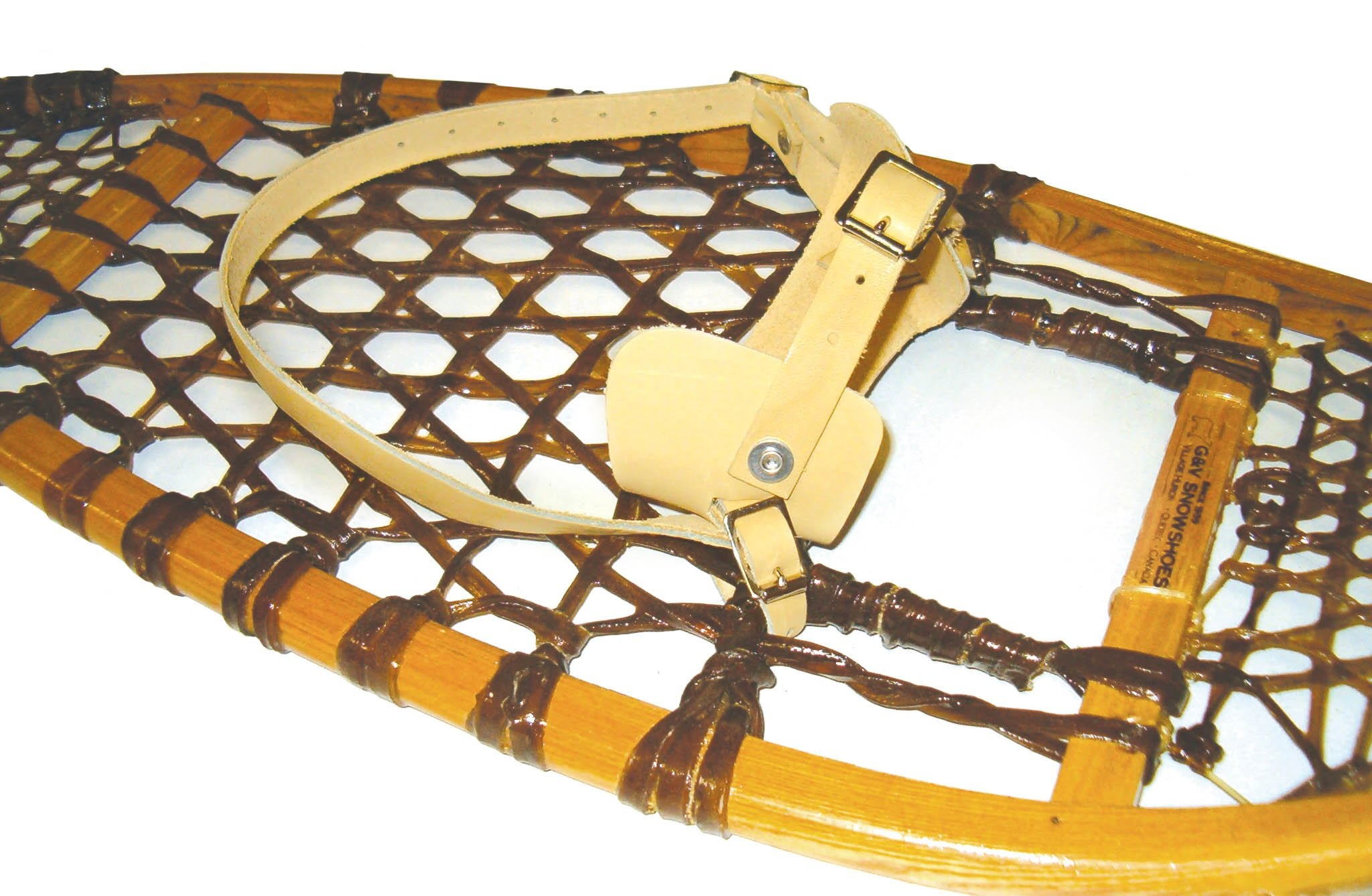 GV Snowshoes Traditional Leather Snowshoe Bindings by GV Snowshoes