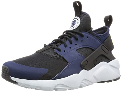 1448e06b44bc Nike Men s AIR Huarache Run Ultra Midnight Navy Ghost Grn-Blk Sneakers-7