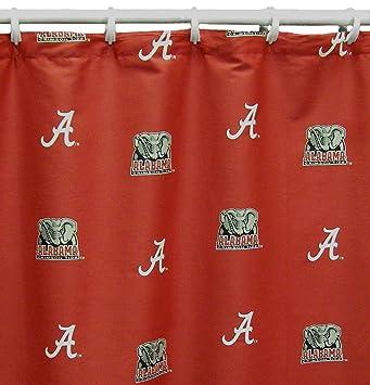 Amazon.com : NCAA Alabama Tide Shower Curtain Cover, 72