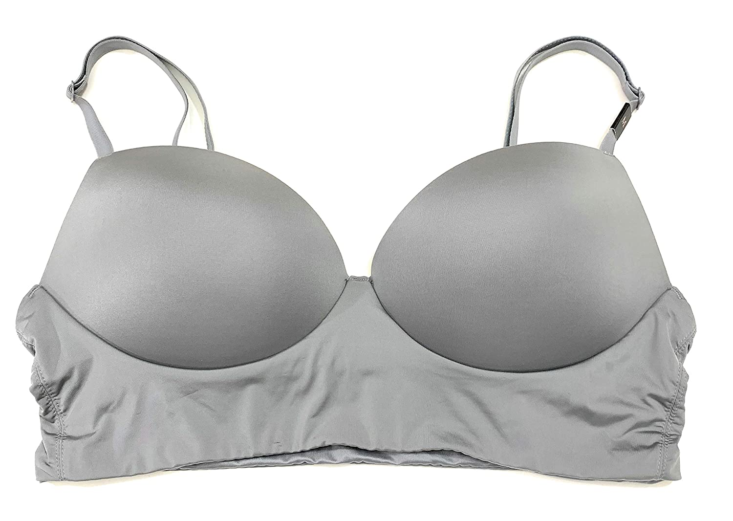 46cba819d9 Victoria s Secret Padded Demi Wireless Bralette Bra Medium Gray at ...