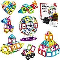 Jasonwell 108 Pcs Magnetic Tiles Building Blocks Set for Boys Girls Preschool Educational Construction Kit Magnet…