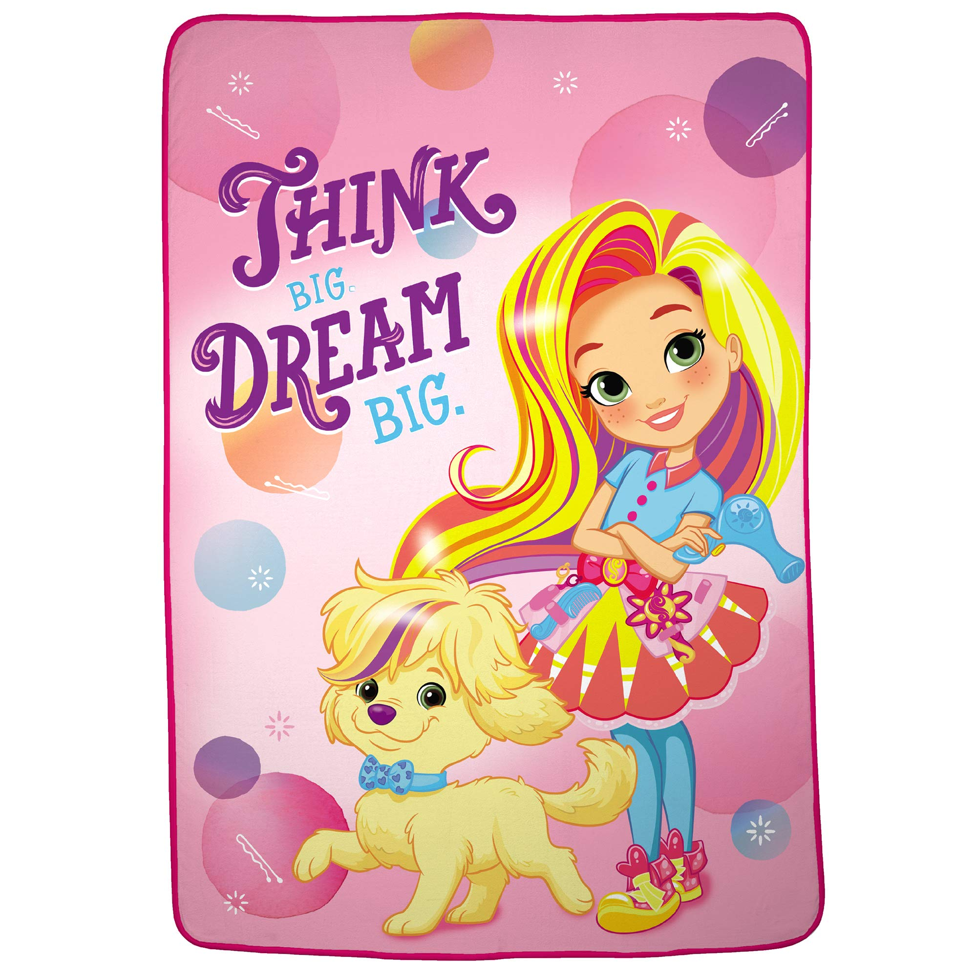 Nickelodeon Sunny Day Soft Plush Microfiber Kids Bedding Blanket, Twin/Full Size 62'' x 90'', Pink by Nickelodeon