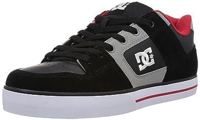 d33d8c6c27232b DC Men's Pure Action Skate Shoe, Battleship/Armor/True Red 7 ...