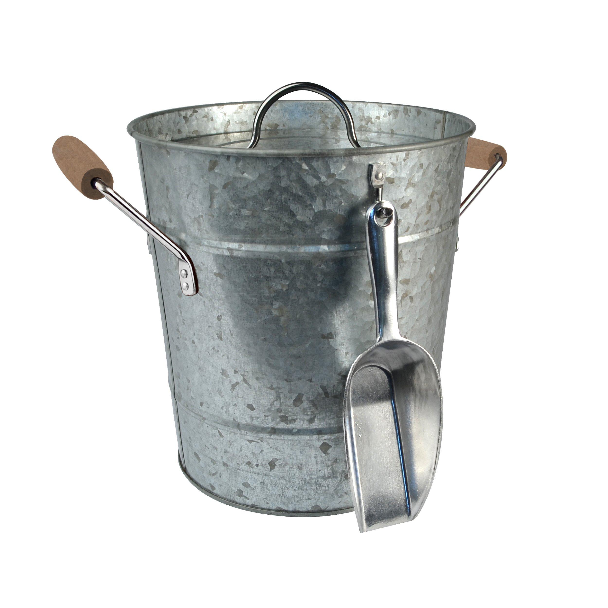 Artland Masonware Ice Bucket with Scoop, Galvanized, Metal by ARTLAND