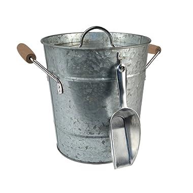 Artland Masonware Ice Bucket with Scoop, Galvanized, Metal
