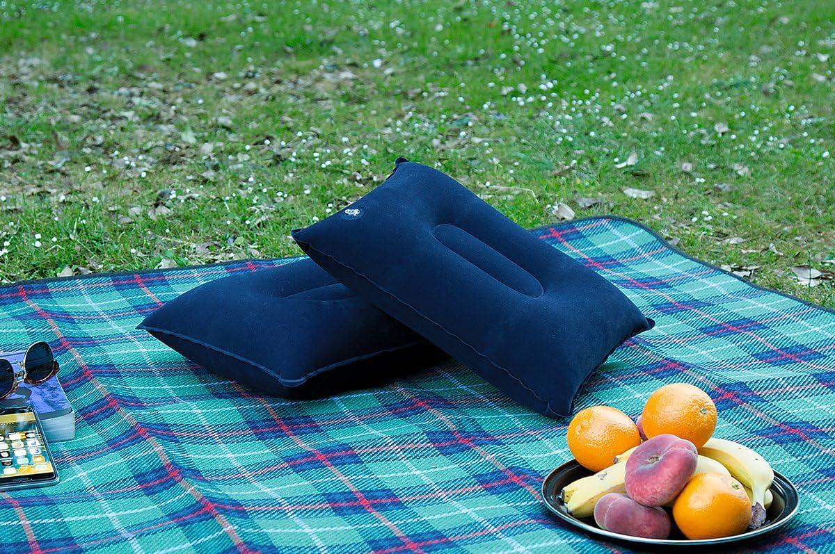 en tu tienda de campa/ña en el parque o en la oficina como un soporte para tu espalda. Almohada de viaje para acampada compacta y hinchable EcoPower Sports en el avi/ón ideal para mochilar