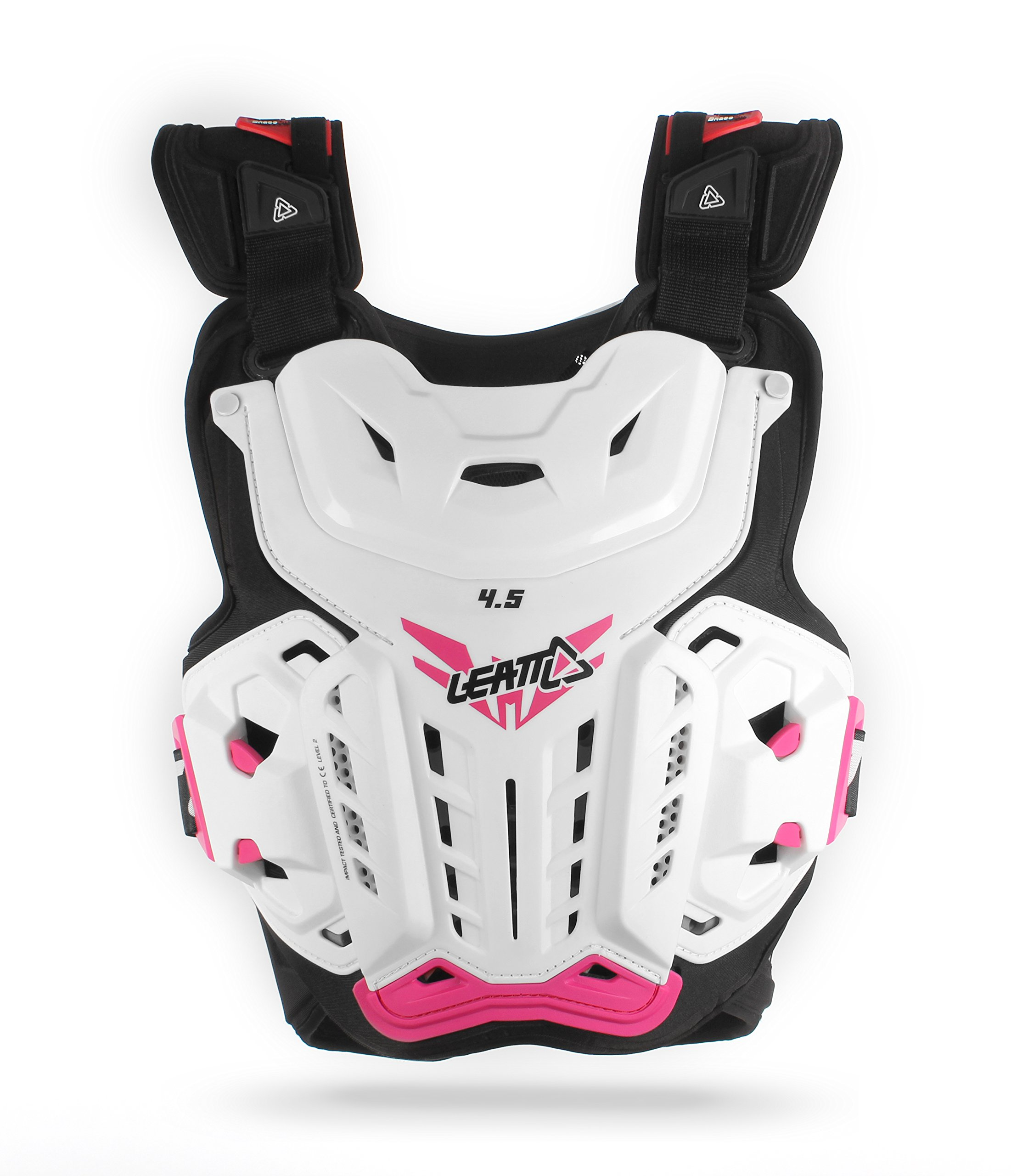 Leatt 4.5 Jacki Chest Protector (White/Pink, One Size)