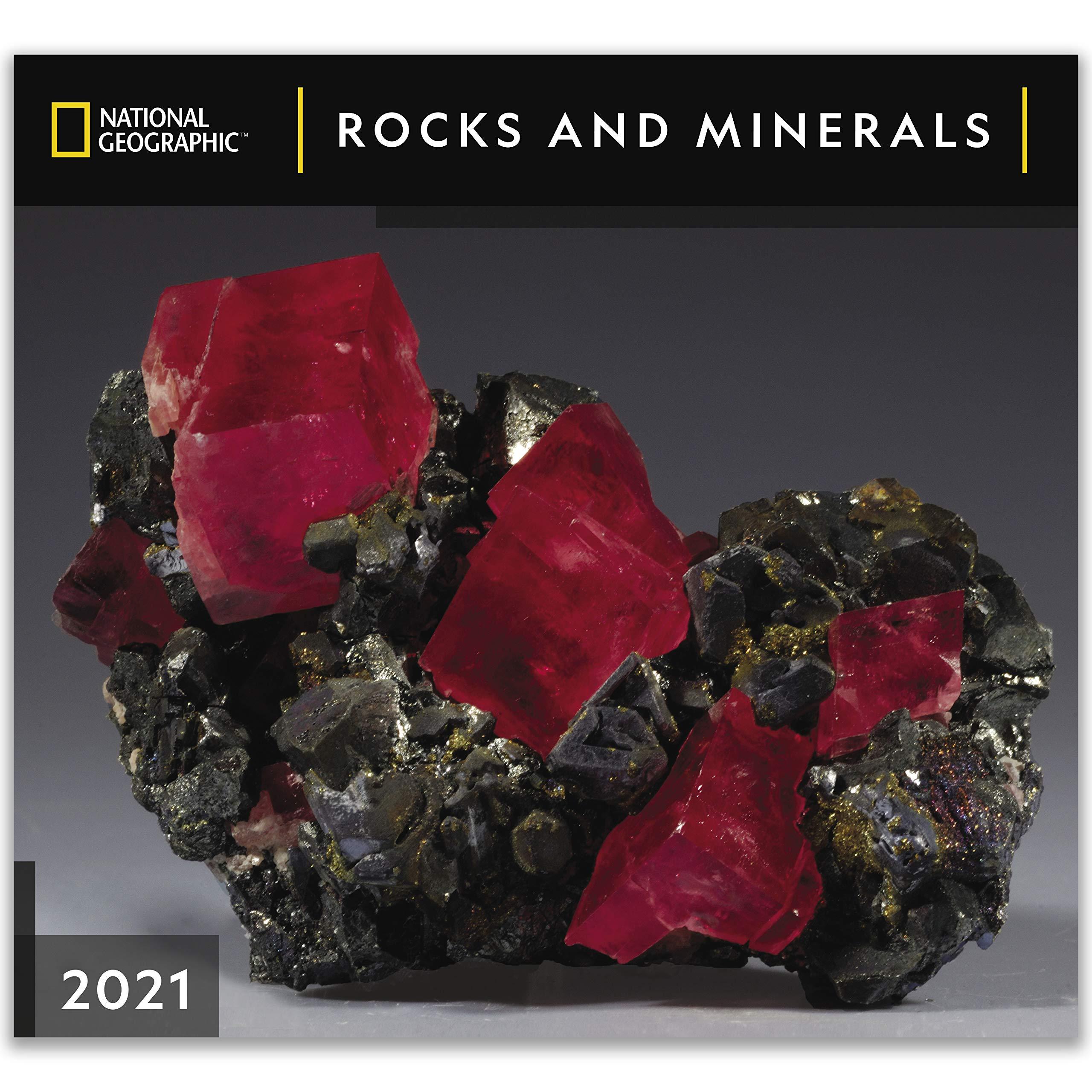 Red Rocks 2021 Calendar National Geographic Rocks and Minerals 2021 Wall Calendar: Zebra