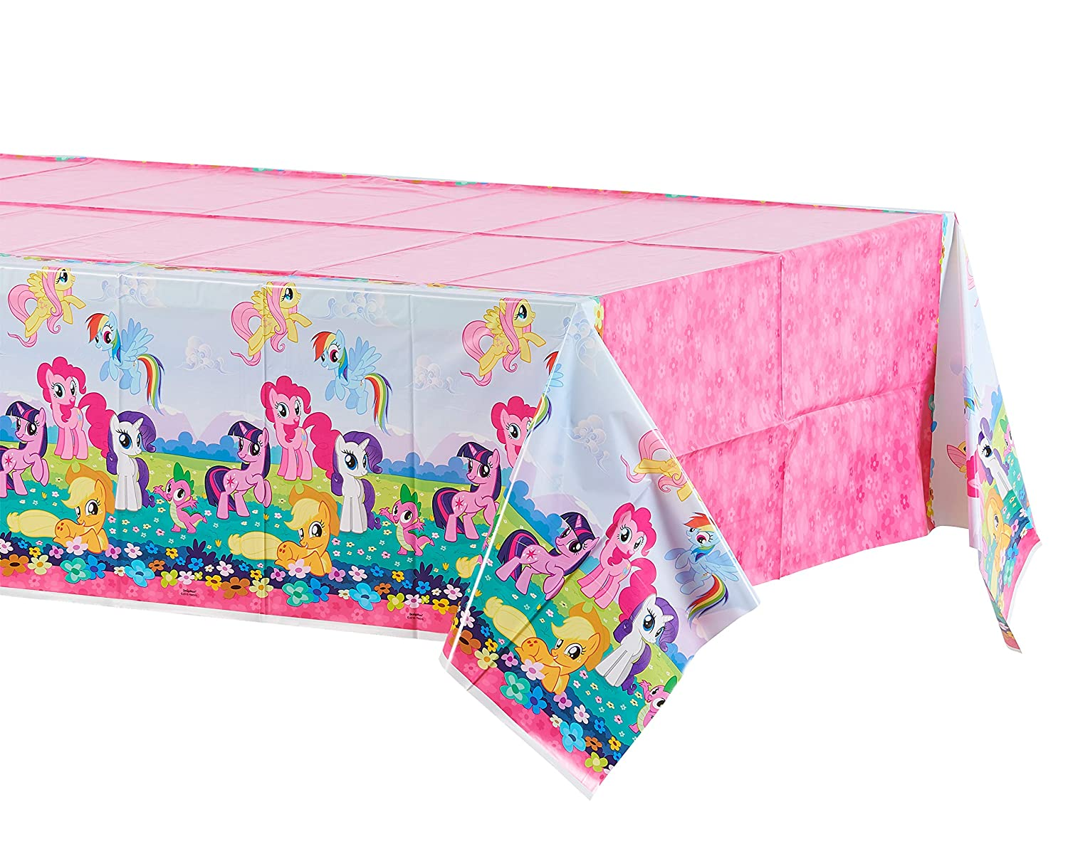 """American Greetings, My Little Pony Plastic Table Cover, 54"""" x 96"""""""