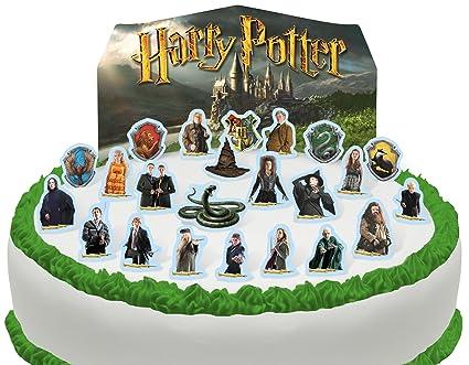 Toppershack Scène Pour Gâteau Harry Potter Comestible Pré Découpée 24 Décorations