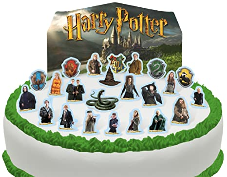 Toppershack Scene Pour Gateau Harry Potter Comestible Pre Decoupee