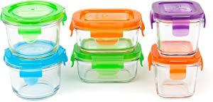Wean Green Glass Baby Food Storage Containers Starter Set, 12 pieces