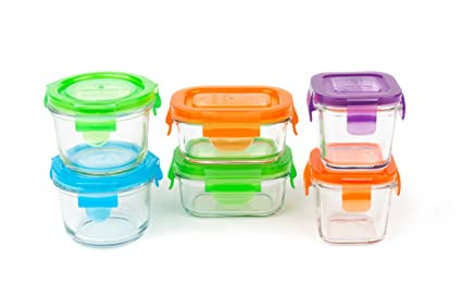 Amazoncom Wean Green Glass Baby Food Storage Containers Starter