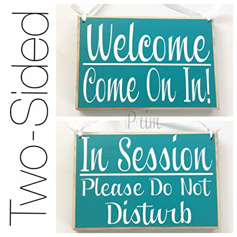graphic relating to Please Knock Sign Printable named Prim and Suitable Decor 2 Sided Within Consultation You should Do Not Disturb/Welcome Arrive Upon Within 8x6 (Take Shade) Tailor made Conference Within Advancements Business Office Wooden