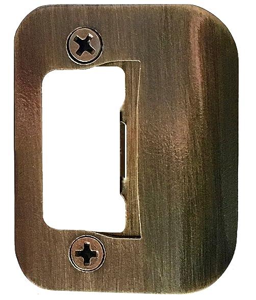 GATOR Door Latch Restorer - Strike Plate (Antique Brass) - GATOR Door Latch Restorer - Strike Plate (Antique Brass