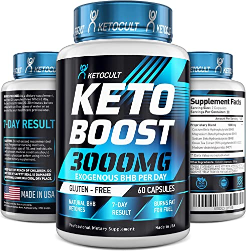 Keto Diet Pills – 5X Potent – Fat Burner 3000mg – Made in USA – Weight Loss Keto Burn – Exogenous Keto BHB Supplement for Women and Men – Keto Supplement Metabolism Support – BHB Keto Burn