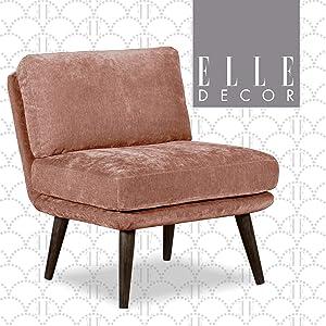 Elle Decor Sophie Slipper Chair, Mauve