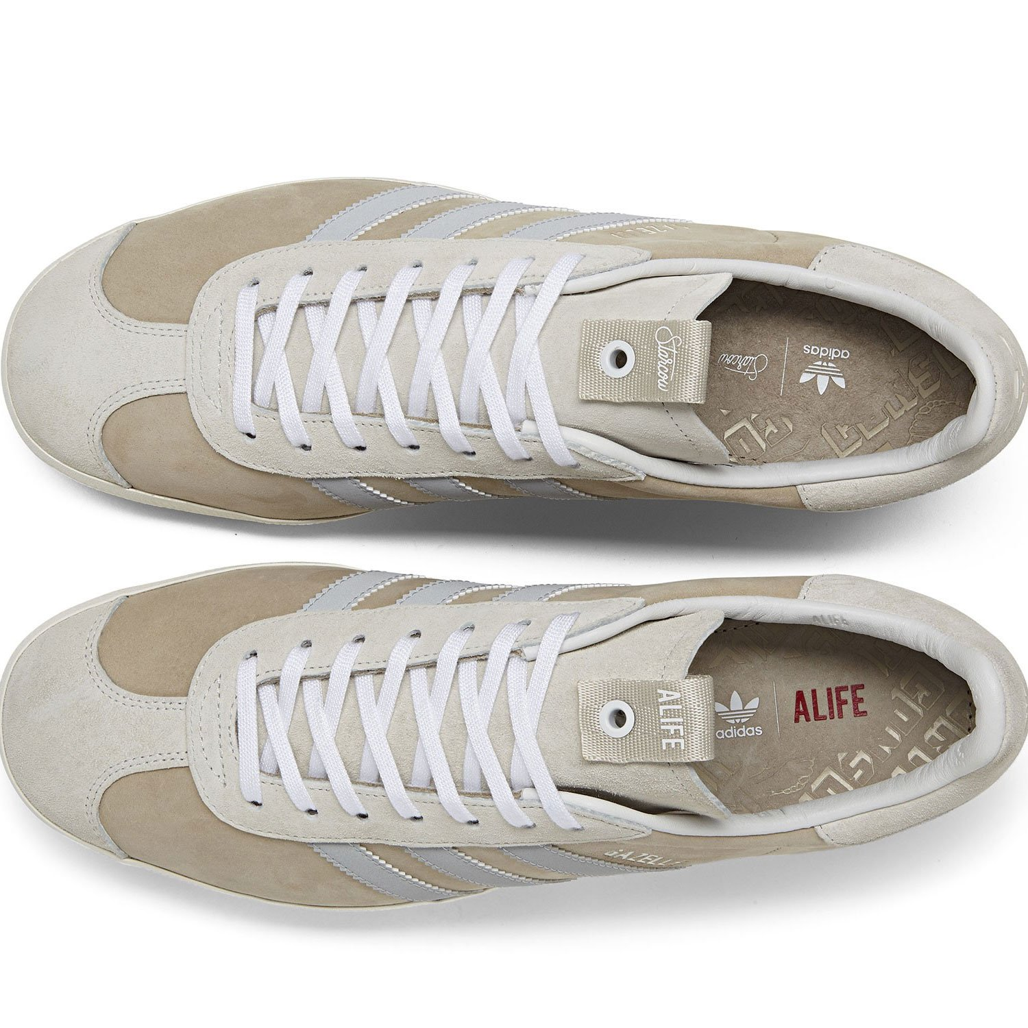 finest selection 358a7 136c8 adidas Mens Alife Gazelle S.E. TanWhite Suede Size 12 Amazon.co.uk Shoes   Bags