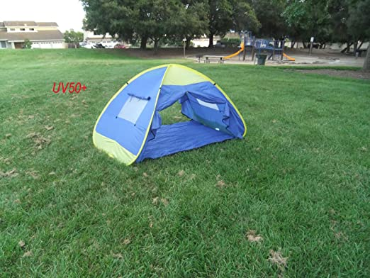 Amazon.com: Genji InstantUp Pop Up Park and Beach Sun Shelter Tent with Door: Sports & Outdoors