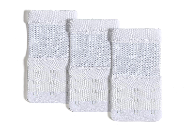 1f63b2e4b6797 Bra Extender Women Pack of 3 Soft Comfortable 3 Hook Elastic Bra Strap  Extension