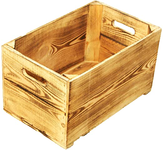 Peras caja 1-tabla flambeado/blanco/vino caja de madera caja de ...