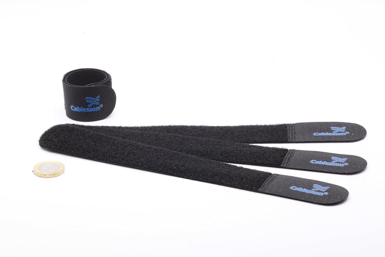 Azul. Paquete Fino Cablesson Sujetacables de Velcro y Nylon Gancho y Lazo liberables y Reutilizables Paquete de 20 sujete y Mantenga el Cable de Alambre ordenado