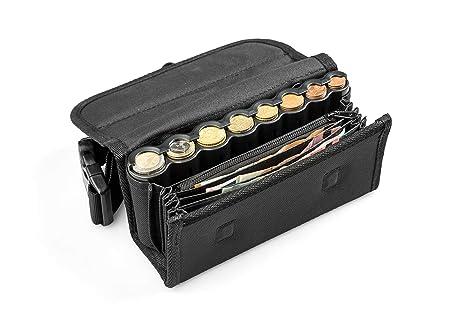Cartera Camareros con dispensador para 6 Tipos de Monedas Euro y con Cremallera Interior