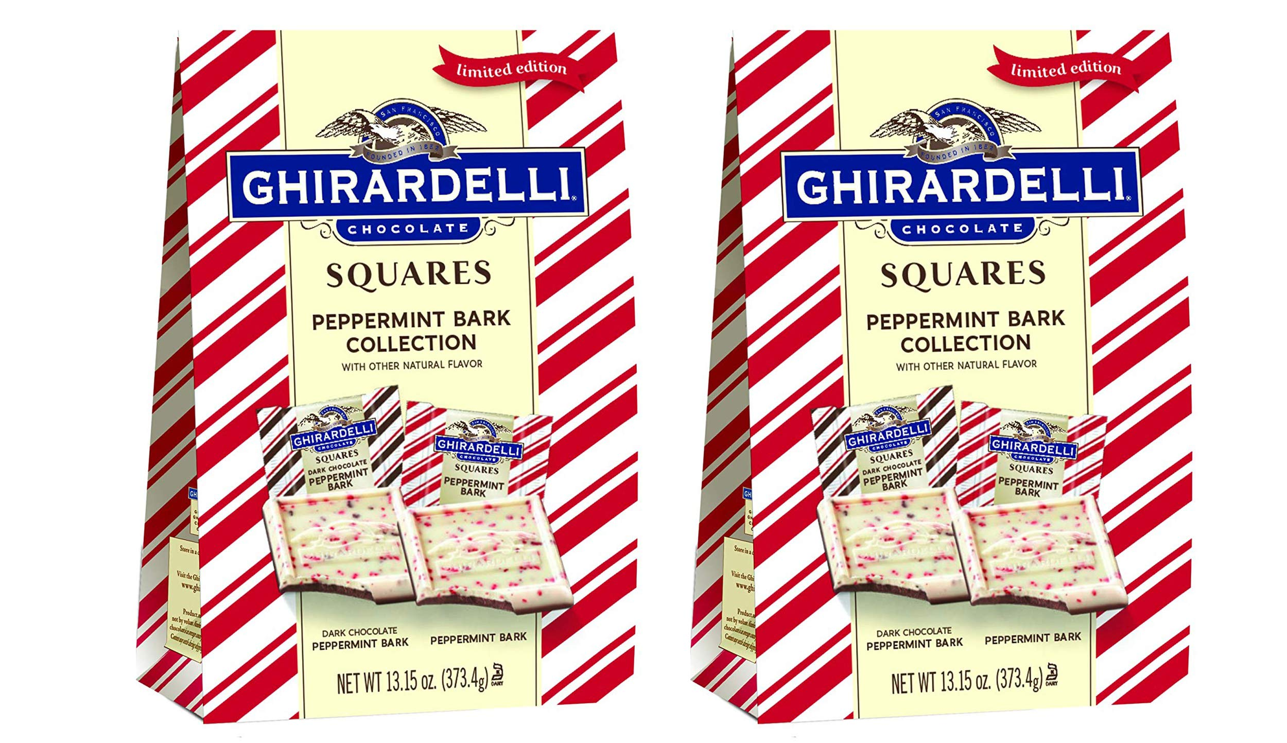 Ghirardelli Limited Edition Peppermint Bark Squares (2-Pack) by Ghirardelli