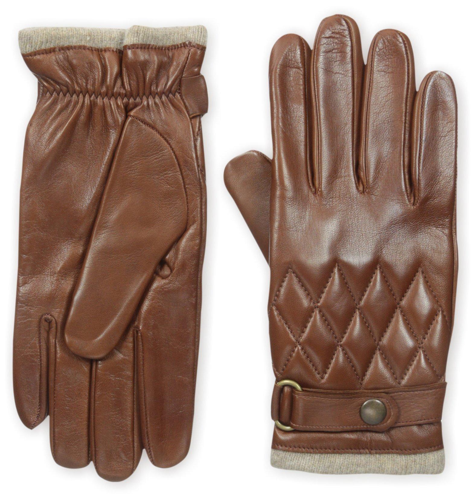 Franklin Tailored Men's Nappa Snap Closure Glove, Cognac, M