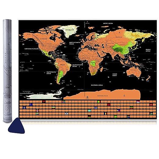 34 opinioni per Scratch il Mondo, Vitutech Mappa da Grattare Voglia di Viaggiare Deluxe Scratchy