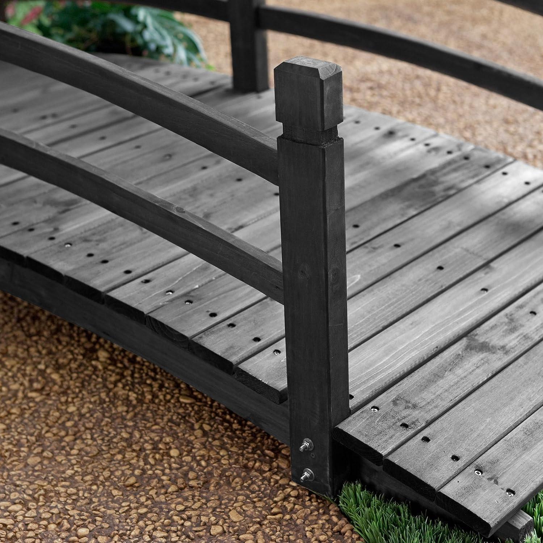 Amazon.com : Coral Coast Harrison 6 Ft. Wood Garden Bridge   Dark Stain :  Garden Gates : Garden U0026 Outdoor