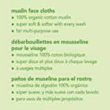 green sprouts Muslin Face Cloths made from Organic