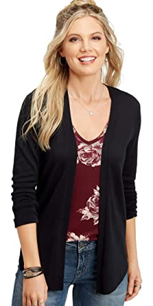 3e409e37708 maurices Women s Long Sleeve Cardigan - Pointelle Back Open Front at Amazon  Women s Clothing store