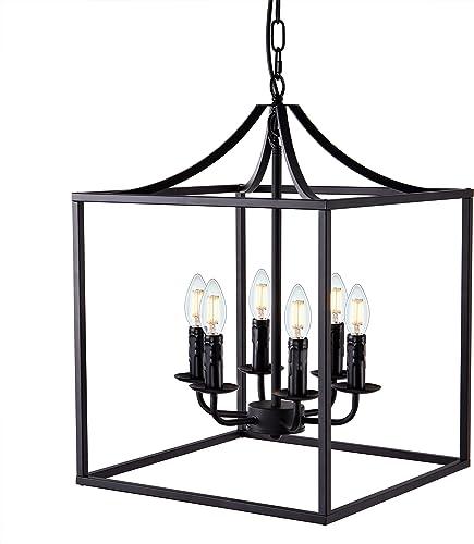 Wellmet Foyer Chandelier Lantern Pendant Light