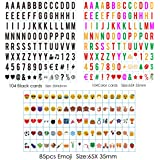 Sanyan 293 Black & Color Letters, Numbers, Emojis & Symbols for Use with A4 Cinematic Light Box USE, Plastic, New…