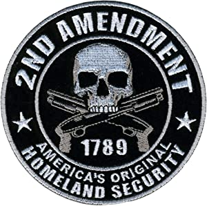 """Hot Leathers PPA5950 Homeland Security 2nd Amendment Support Patch (4"""" Width x 4"""" Height)"""