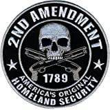"""Hot Leathers Homeland Security 2nd Amendment Support Patch (4"""" Width x 4"""" Height)"""