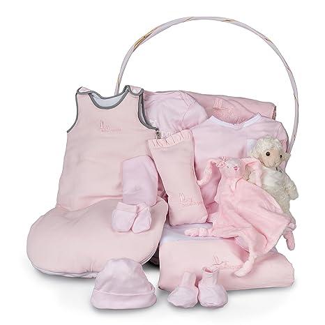 Canastilla bebé Serenity Ensueño-cesta regalo para recién nacido-completa con más de 10 productos ideales para la hora del sueño del bebé