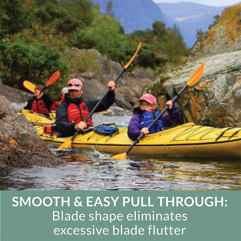 Bending Branches Slice Hybrid Kayak Paddle Snap-Button Orange 240