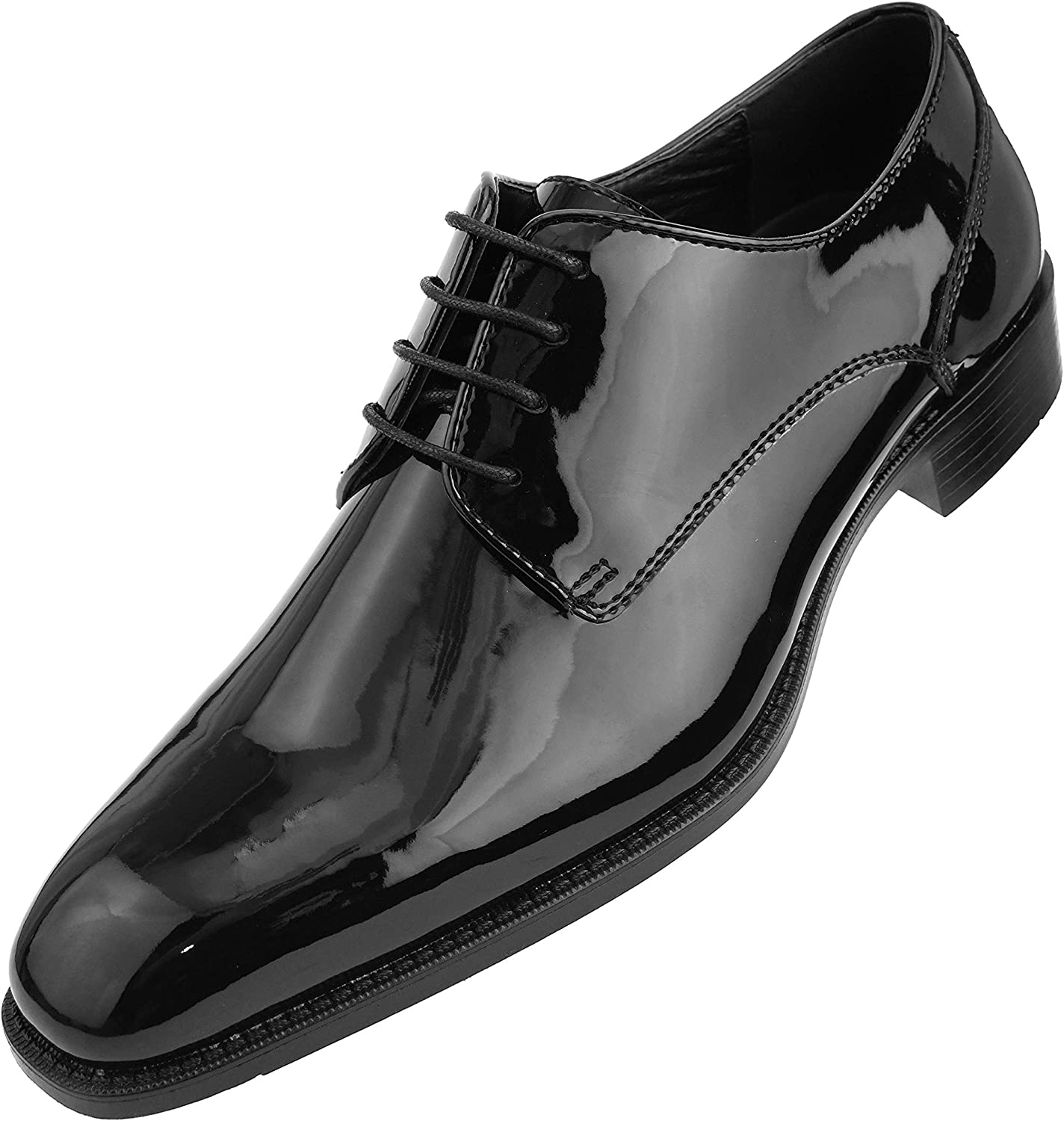 Amali Classiko, Mens Shoes - Mens Dress Shoes - Mens Oxford Shoes - Wedding  Shoes - Lace Up, Tuxedo Shoes for Men - Patent Man Made Leather