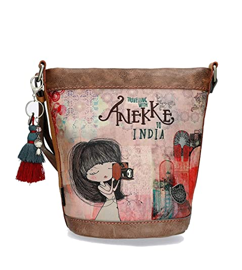 Anekke Bandolera en tono marrón: Amazon.es: Zapatos y ...